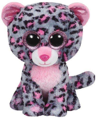 Ty Beanie Boo's Glubschis - Tasha, Leopard pink/grau