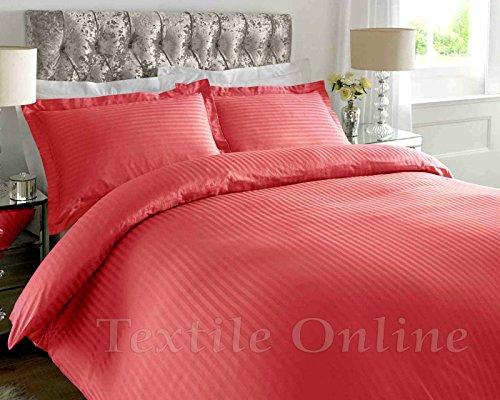 T 300 Hotel Qualität Satin Streifen 100% ägyptisch Baumwolle Luxus Bettbezug Bettwäsche-Set (Desert Rose,Double)DE (Bettwäsche-set Desert)