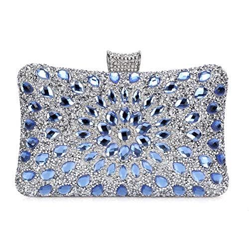 Bolso de Noche Lujo Bolso de Hombro Mujer Glitter Diamond Hard Shell Clutches para...