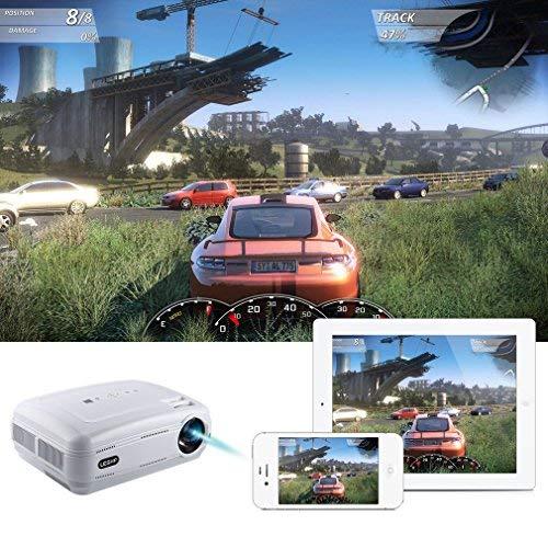 LESHP Projector, 1080p Full HD Projector - Mini Portable Projector with HDMI/VGA/AV/USB PC Computer Xbox TV Compatibility