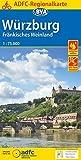 ADFC-Regionalkarte Würzburg Fränkisches Weinland mit Tagestouren-Vorschlägen, 1:75.000, reiß- und wetterfest, GPS-Tracks Download (ADFC-Regionalkarte 1:75000) -