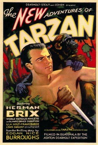 Le nuove avventure Tarzan Poster Film B, 69 x 102 cm) (Bruce Herman Brix Bennett Ula Holt Frank Dale Walsh Baker Lewis Sargent