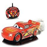 Cars 3 RC ferngesteuerter Lightning McQueen mit Turbofunktion, Rauchfunktion und Driftmodus • Disney ferngesteuertes Elektro Spielzeugauto 1:16
