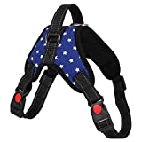 CGDZ S-XL einstellbar Haustier reflektierende Klebeband für kleine mittelgroße große Hunde Haustier atmungsaktiv zu Fuß Handschlaufe Hund liefert L 07