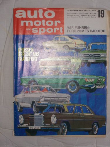 Gt Hardtop (Auto Motor Sport, IAA - Heft 1965)