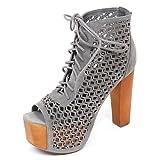 Jeffrey Campbell D2222 Sandalo Donna Gallatin Scarpe Grigio Shoe Woman [40]