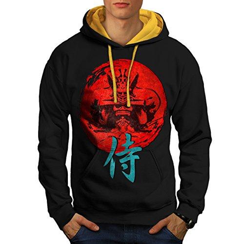 japonais-rouge-symbole-asiatique-homme-nouveau-noir-avec-capuche-dor-xl-capuchon-contraste-wellcoda