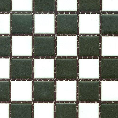 Schwarz-weiß-mosaik-fliesen (Mosaik Fliesen Keramikmosaik schachbrett schwarz/weiß matt (1 Matte))