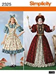 Simplicity R5 Schnittmuster 14-16- 18-20-22 2325 Damen Kostüm Alice im Wunderland