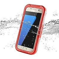 JAMMYLIZARD | Salamander Wasserdichte Schneedichte Handyhülle für Samsung Galaxy S7, ORANGE
