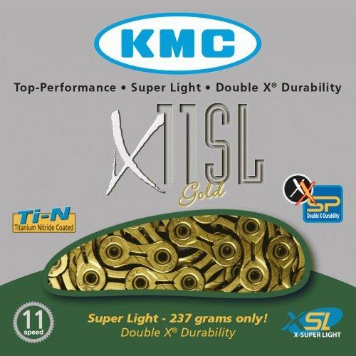 KMC Fahrradkette X 11 SL, gold (Kette Superlight)