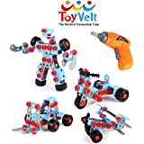 280 Pieces STEM Learning Take Apart Educational Construction Engineering W ELECTRIC Toy DRILL Building Blocks Set - For 3, 4 And 5+ Year Old Boys & Girls. - The Best Toy Gift For Kids Ages 3yr - 6yr.