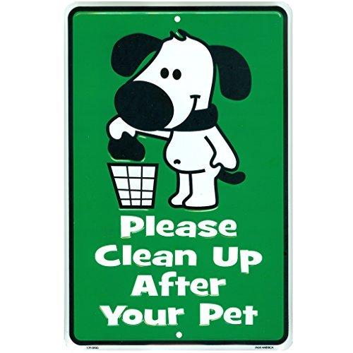 Cute keine Hunde Pooping Zeichen, Bitte reinigen, die Nach Ihren Hund Poop Pet, ohne Metall Hof Schilder, 20,3x 30,5cm -
