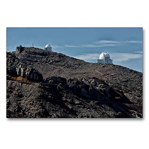Calvendo Premium Textil-Leinwand 90 x 60 cm Quer-Format La Palma - Observatorium | Wandbild, HD-Bild auf Keilrahmen, Fertigbild auf hochwertigem Vlies, Leinwanddruck von Angelika Stern Natur Natur (Home-observatorium)