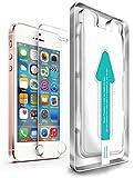 XeloTech iPhone SE & iPhone 5s 5 Premium Panzerglas Folie mit Schablone für Hohe Passgenauigkeit | Sehr Hohe Qualität