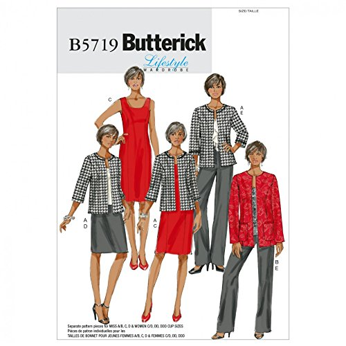 Butterick Sewing Pattern 5719 - Ladies Plus Size Suits/Work Wear Sizes: 18W-20W-22W-24W