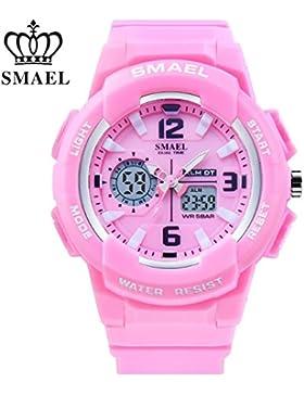 Erwachsene Rosa Sport Digital Kalender Armbanduhr für Mädchen Kinder mit Alarm Stoppuhr