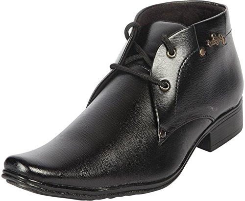 ZEELAND Men's Patent Leather Black Formal Shoes-8