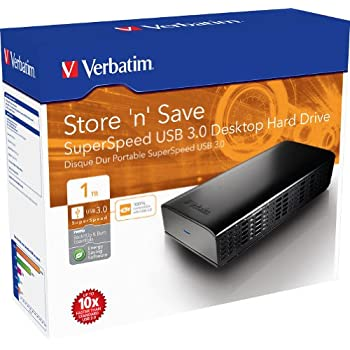 """Verbatim 47670 Disque Dur Externe 3,5"""" 1 To USB 3.0/USB 2.0"""