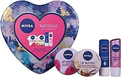 Nivea Luscious Lip Moments Gift Set for Women's - 4 Pieces