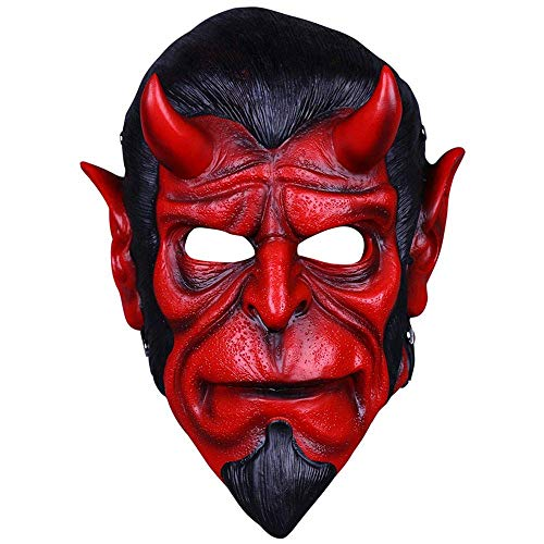 aske Horror Halloween Maske verkleiden Sich Ball Ghost Face Film Requisiten Harz Horn ()
