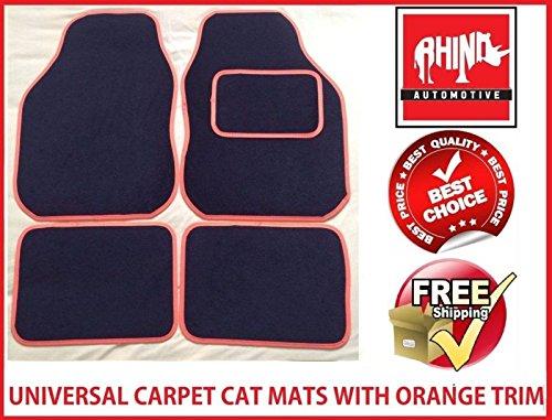 rhinoautomotive© Universal Orange Radkappe Teppich Auto Matte Set–rw1702 (Teppich 1702)