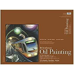 Strathmore Oil Painting Paper Pad, 215lb/350gsm weight, Linen texture surface, 18 x 24 inches, 10 sheets (430-318)