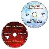 Universal Treiber-Sammlung f�r Windows 10 / 8 / 7 / Vista / XP (32 & 64 Bit) alle (PC & Notebook) Modelle + Festplatten L�scher & Formatiere, Datenvernichter, Sichere Datenl�schung Bild