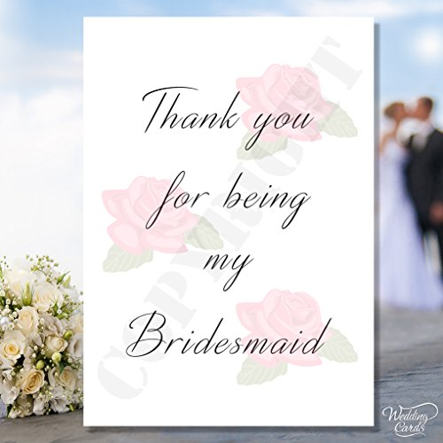 Postcard Thank you for Beeing my Maid of Honor