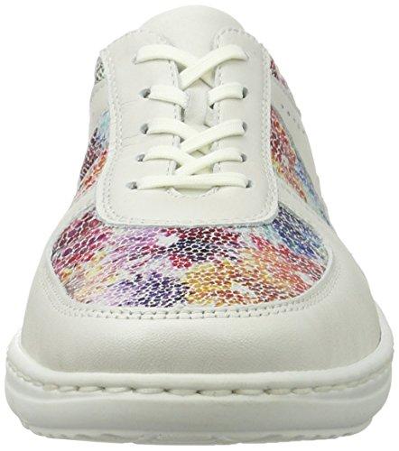 Waldläufer Hassi, Chaussures à Lacets Femme Mehrfarbig (offwhite multi)