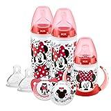 NUK Ensemble de biberons gobelet et tétines pour bébés de 6 à 18 mois Motif Disney Mickey et Minnie