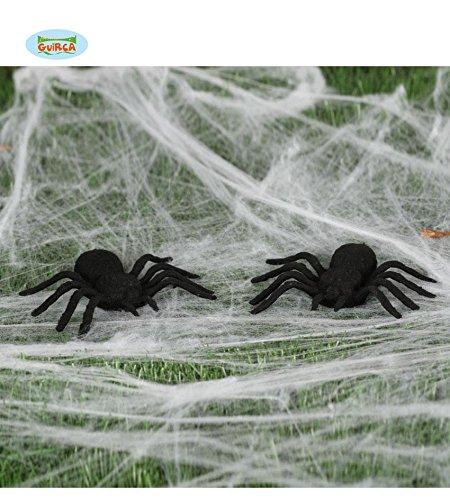 2 Spinnen Spinne Dekoration Halloween ca. 7 x 9 cm Deko Horror gruselig Insekt (Kostüm Krabbeltiere)