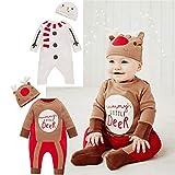 Weihnachts Party Kostüm Weihnachtsbaby-Schneemann-Overall-englischer Buchstabe-Spielanzug mit Haube Kostüm Weihnachten Nikolauskostüm Weihnachtsmannko (Farbe : A, Größe : 80)