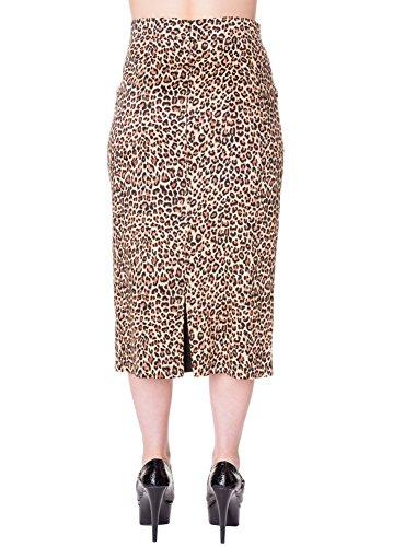 Banned Bleistiftrock PENCIL SKIRT 227 leopard Brown