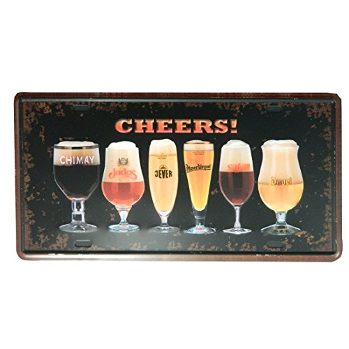 ipekoo Jack Daniels Metall Schild Whiskey Pub Bar Vintage Blechschild Retro Metall Schild–30,5x 15,2cm, A