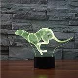 Laufen Tier 7 Farbwechsel Nachtlicht 3D Led Tiger Leopard Tisch Schreibtischlampe Kinder Nachttischlampe Leuchte Geschenke Schlafzimmer Dekor