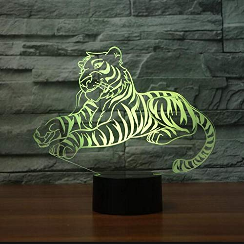 Tigre 3D Night Light 7 Colori Che Cambiano Touch Ust Tavolo Usb Lampara Lampe 3D Visual Light Per Il Regalo Del Giocattolo Del Capretto