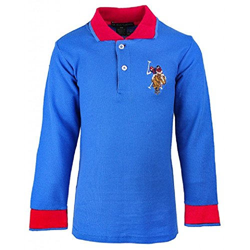 U.S.POLO ASSN. Boys US Polo USPA Embroidery Long Sleeve Cotton Polo T- Shirt ac30173cc2694