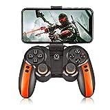 Mando Bluetooth Inalámbrico de Juegos, para Android/Windows/VR/TV Box/PS3,Naranja,2019,Orange