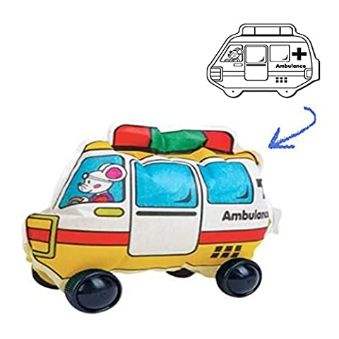 DCKR Self Diy Coloring Toy Amublance Version Educational Vehicle Moving Games For Early Development