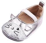 EOZY Babyschuhe Mädchen Lauflernschuhe Festlich Schuhe Taufschuhe Silber Fußlänge 13cm