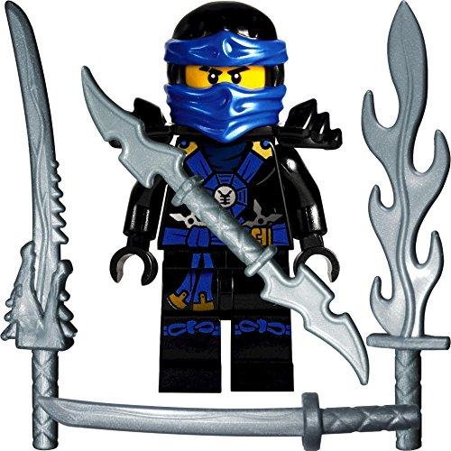 gur Deepstone Jay (blauer Ninja) mit 4 GALAXYARMS Schwertern (Blaue Lego Ninjago)