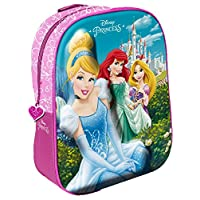 Star Disney Princess Art. Code- 42927, Backpacks Printed Fine 3D, Dimension- 26.5 x 10 x 31 cm