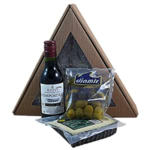 Kleines Käse-Set mit Rotwein aus der Rioja