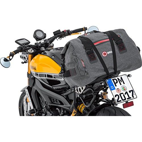 Motorrad-Heck-Tasche QBag Hecktasche/Gepäckrolle wasserdicht 09, bis zu 60 Liter grau