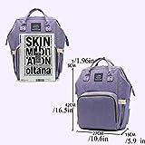 ZXYWW Wickeltasche Rucksack Große Kapazität Baby Bag - Wickeltasche - Windel Tote - Plus Wickelauflage, Kinderwagen Straps Und 10 Taschen, Lila