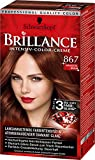 1x Schwarzkopf Brillance Intensive-Color-Creme 867 Mahagoni-Braun Haarfarbe