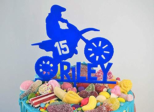 Rummy 837997 Tortenaufsatz für Geburtstagskuchen, Motorcross Motobike/Dirt Bike/Extreme Sport/Party-Dekoration, lasergeschnittenes Acryl (Bike-party Dekorationen)