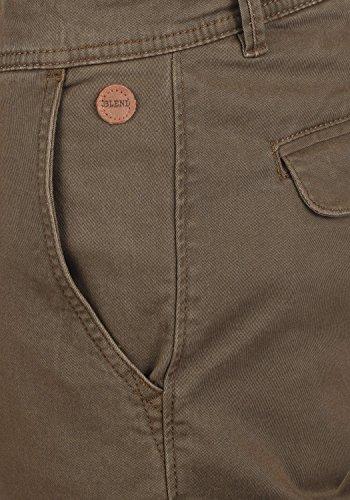 BLEND Gustavo Herren Chino-Hose lange Business Hose Casual aus hochwertiger Baumwollmischung Slim Fit Mocca Brown (71508)