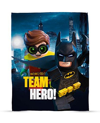 LEGO Batman Movie Hero Print Fleece Decke - Groß. -
